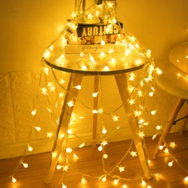 Ball Shape PVC Energy Saving Christmas Decoration LED Lights