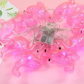 Flamingo Shape Holiday Decoration Plastic LED Lights