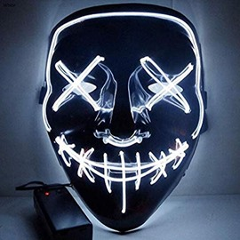 LED Light Mask Up Funny Mask The Purge Election Year Great Cosplay Halloween US