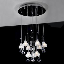Beautiful K9 Crystal Mini Chandelier with 9 Lights