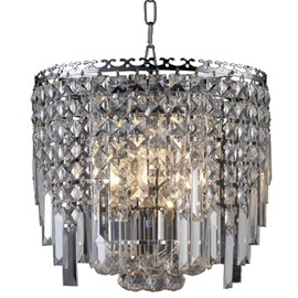 Amazing Gorgeous Metal Frame Crystal Decorative Chandelier