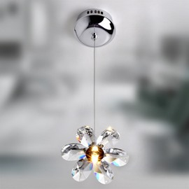 Charming 20W Crystal Floral Shape Pendant Light