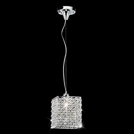 Shining Crystal Shade Metal Base Pendant Light