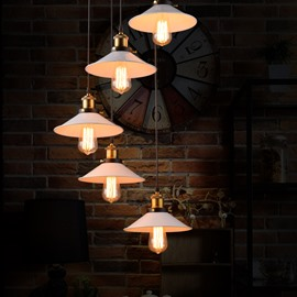 White Vintage Style Creative Bar Restaurant Loft Decoration 5-Head Pendant Lights