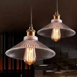 Vintage Industrial 2-Head Glass Shade Pendant Light