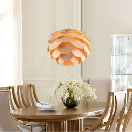 Creative Layer of Petal Design Wood Pendant Light