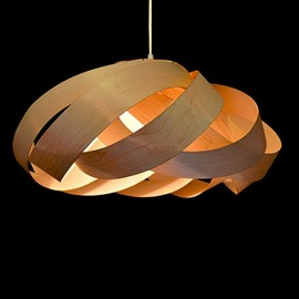 Fantastic Flower Design Wooden Pendant Light
