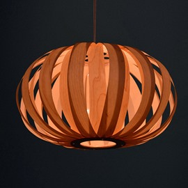 Modern Unique Wooden Lantern Design Pendant Light