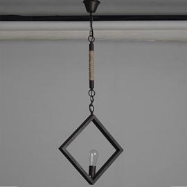 Unique Design Classic Square Shape With One Bulb Pendant Light