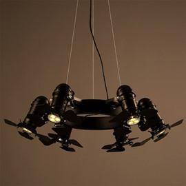 Professional Iron Frame 5 Bulb Holders Fan Pendant Light