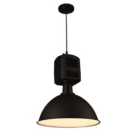 Black Simple Style Iron Frame Decorative Pendant Light