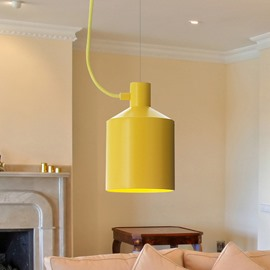 Amusing Modern Design Four Colors Bucket Shape Decorative Pendant Lights