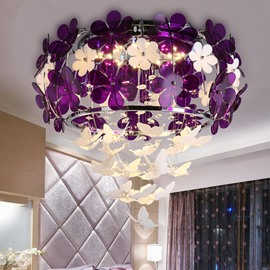 Gorgeous Creative Butterfly Design Modern Style LED Flush Mount