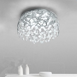 Golden/Silver Round Crystal Strings 10 Light Sources LED Flush Mount