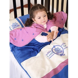 Land Sea Letters Combination of Blue and Beige Baby Sleeping Bag