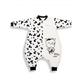 High Quality Bamboo Fiber Lovely Cow Print Thickening Baby Sleeping Bags