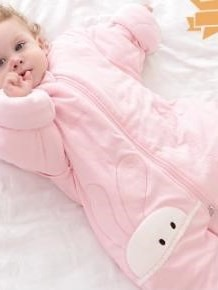Top Class Cozy Rabbit Pink Baby Sleeping Bag