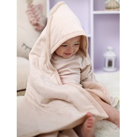Super Soft and Comfortable Light Brown White Stripes Baby Sleeping Bag