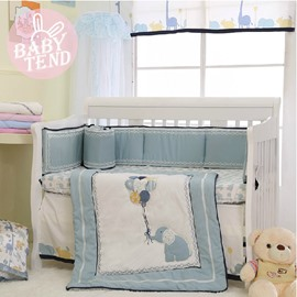 Adorable Happy Elephant 8-Piece Crib Bedding Sets