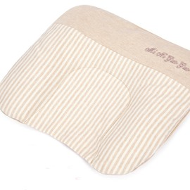 Prevent Flat Head U-Shape Natural Colored Cotton Pink Baby Pillow