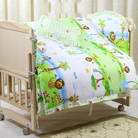 Dreamy Island Pattern Cotton 9-Piece Baby Crib Duvet Covers/Bedding sets