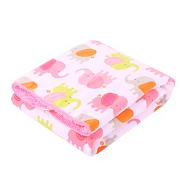 Bouncy Fresh Pink Elephant Pattern Baby Blanket