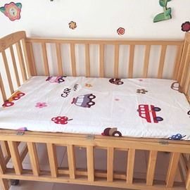 Gentle Cotton Cars Pattern Baby Crib Fitted Sheet