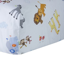 Super Lovely Animal Friends Pattern Baby Crib Fitted Sheet