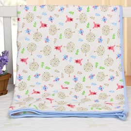 Bird and Rabbit Pattern 100% Cotton Baby Crib Sheet