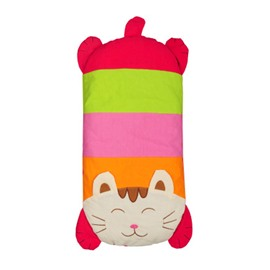 Cute Cat Shape Cotton Surface Buckwheat Hull Filling Crib Pillow