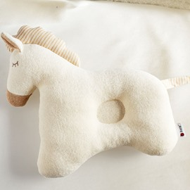 Lovely Horse Design Cotton Surface Prevent Flat Head Crib Pillow