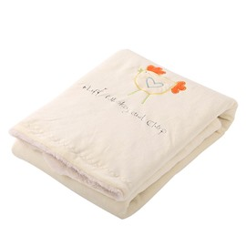 Soft and Comfy Happy Chicken Pattern Baby Blanket