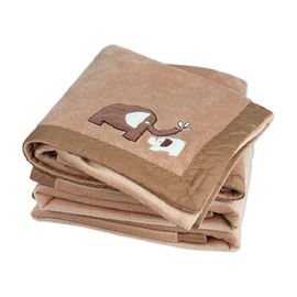 High Quality Soft Flannel Elephant Pattern Baby Blanket