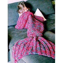 Unique and Handmade Crocheted Mermaid Tail Blanket