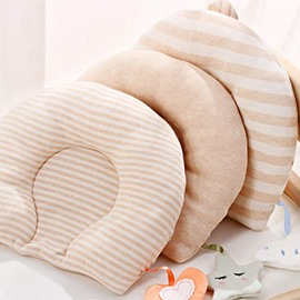 Prevent Flat Head Cotton Nordic Style Warm Color Baby Pillow
