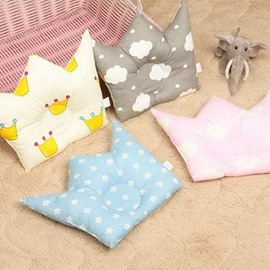 Adorable Crown Shape Prevent Flat Head Baby Pillow