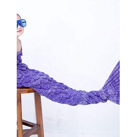 Softly and Warm Multicolor Option Kids Mermaid Blanket