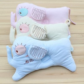 Creative Elephant Design Multicolor Option Prevent Flat Head Baby Pillow