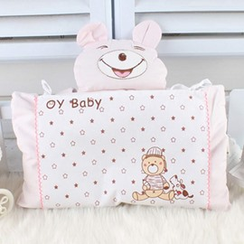 Lovely Cartoon Bear Design Blighted Grain Baby Pillow