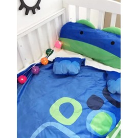 Dinosaur Shape Coral Velvet 3-Piece Blue Baby Sleeping Bag