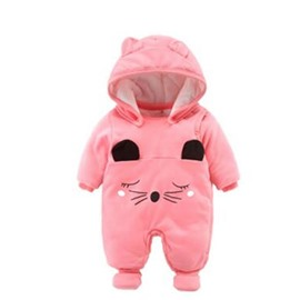 Cartoon Cotton Simple Style Pink Baby Sleeping Bag/Jumpsuit