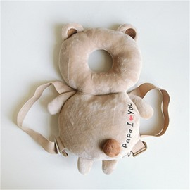Bear Buckle PP Cotton 1-Piece Khaki Anti-Tumbling Toddlers Pillow