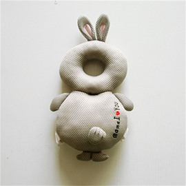 Rabbit Buckle Polyester and PP Cotton 1-Piece Gray Anti-Tumbling Toddlers Pillow