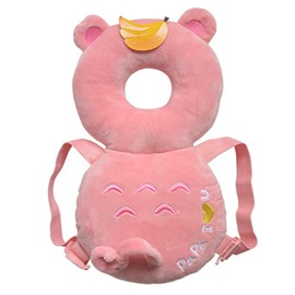 Bear Buckle PP Cotton 1-Piece Pink Anti-Tumbling Toddlers Pillow