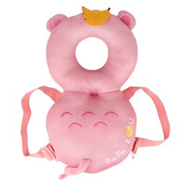 Bear Buckle Polyester and PP Cotton 1-Piece Pink Toddlers Pillow