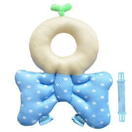 Bowknot Buckle Polyester and PP Cotton 1-Piece Blue Anti-Tumbling Best Toddler Pillow