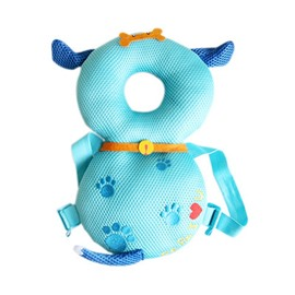Dog Buckle Polyester and PP Cotton 1-Piece Light Blue Best Toddlers Pillow