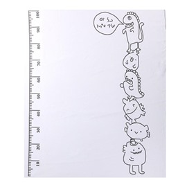 Cartoons and Height Charts Printed Cotton Nordic Style White Baby Blanket