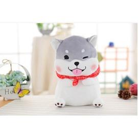 Cute Gray Husky Shaped Soft Plush Throw Pillow