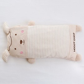 Cartoon Lamb Shape Buckwheat Filling Cotton Baby Sleeping Pillow